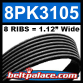 8PK3105 Automotive Serpentine Belt
