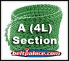 "A SECTION Link V Belt: Sold as Spool of 100 Feet A-AX-4L Section Link V Belting. 0.50"" Top Width"