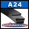 A24 Belt. Classic A-24 V-Belt. Replaces 4L260 FHP V-Belts.