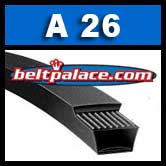 A26 Power King V Belt. Classical A26 Industrial V-Belt.