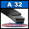 "A32 Industrial V-Belt. Superior replacement V-Belt. 1/2"" Wide, 34"" Length."