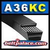"A36KC Belt. UltraPower® AG V-Belt (Kevlar Covered). 1/2"" Wide, 38"" Length OC (965mm)."