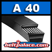 "A40 Industrial V-Belt. Superior replacement V-Belt. 1/2"" Wide, 42"" Length."