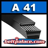 "A41 Industrial V-Belt. Superior A41 replacement V-Belt. 1/2"" Wide, 43"" Length."