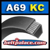 A69-KC Ultrapower V Belt. Kevlar Wrap A69 Industrial V-Belt.