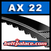 AX 22 Molded Notch V-Belts: AX Series