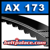 "AX173 V-Belt. Power King (Tri-Power) Molded Notch AX Series. 175"" Length, 1/2"" Wide."