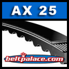 "AX25 V-Belt, Molded Notch Power King Cog (Tri Power) 27""x1/2"" Cogged V-Belt"