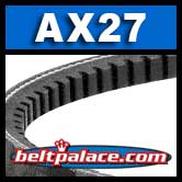 AX27 Cogged V Belt. Classical AX27 Industrial V-Belt.