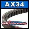 AX34 Bando Power King Cog V Belt. Classical AX4 Industrial V-Belt.