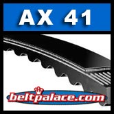 "AX41 POWER ACE V-Belts: AX Series. Cogged 1/2"" Wide x 43"" Length."
