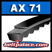 AX71 Bando Power King Cog V Belt. Classical AX71 Industrial V-Belt.