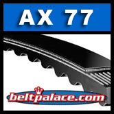 "AX77 Moulded Notch V-Belt. 79"" Length, 1/2"" Wide."