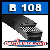 "B108 V-Belt. Classic B-108 Power King (HI - POWER II) V-BELTS: B Section. 0.66"" Wide. 111"" Length."