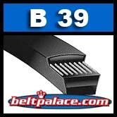 "B39 V-Belt. Power King (HI - POWER II): 42"" L x 21/32"" W. Industrial V-Belt"