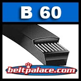 "B60 Classical V-BELTS: B Section. 63"" Length OC."