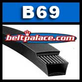 B69 Power King V Belt. Classical B69 Industrial V-Belt.