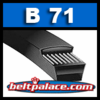 "B71 Power King (Gates, Supco, Dayco, MTD) V-BELTS: B Section. 74"" (1880mm) Length, 21/32"" (17mm) Wide"