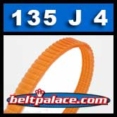 135J4 Poly-V Belt, Metric 4-PJ343 Drive Belt.