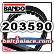 "BANDO 203590 (A-DF) PREMIUM Comet Replacement Drive Belt. Asymmetric. 28.32"" Length. 3/4"" Wide."