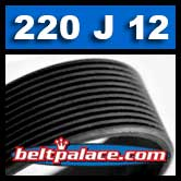 220J12 BANDO Poly-V Belt. Metric 12-PJ508 Motor Belt.