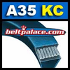 BANDO A35KC Ultrapower V Belt. Kevlar Wrap A35 Industrial V-Belt.