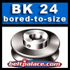 BK24 Light Duty Sheave. Single Groove. BK-24 Pulley Bored to size.