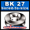 BK27: Light Duty Sheave. Single Groove Sheave BK-27. Choose bore.