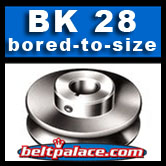 BK28: Light Duty Sheave. Single Groove. BK-28 Pulley Bored to size.