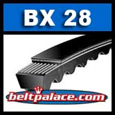 BX28 Power King V Belt. COGGED BX28 Industrial V-Belt.