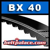 "BX40 Belt. Power King Cog (Tri-Power) Molded Notch Industrial V-Belts: BX40 - 43"" Length."