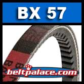 BX57 Power King V Belt. COGGED BX57 Industrial V-Belt.