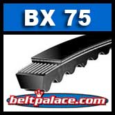 BX75 Power King V Belt. COGGED BX75 Industrial V-Belt.