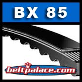 "BX85 V-Belt. Tri-Power Molded Notch V-Belts: 88"" Length, 0.66"" Wide."