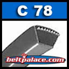 C78 POWER ACE V-BELTS: C Section