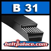 "B31 POWER ACE V-BELTS: B Section. 34"" x 21/32"""