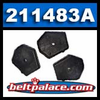 Comet 211483A Puck Kit for Ribbed Cover 94C Duster. 3-Pack.