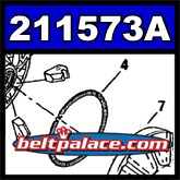 Comet 211573A. White Garter Spring for 44C MAGNUM Drive unit.