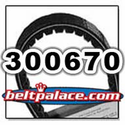 Comet 300670 (A-C) Drive Belt. Comet Industries 300670-704133 BELT.