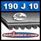 GATES 190J10 Micro-V Belt, Metric 10-PJ483 Motor Belt.