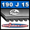 190J15 GATES Micro-V Belt. Metric 15-PJ483 Motor Belt.