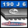 190J6 GATES MICRO-V BELT. Metric 6-PJ483 Motor Belt.