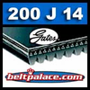 200J14 GATES MICRO-V Belt, Metric 14-PJ483 Motor Belt.