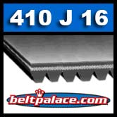 "410J16 GATES MICRO-V BELT. 41"" Length, 16 Rib Belt. Metric Belt PJ1041."