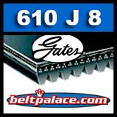 Gates 610J8 Poly-V Belt, Metric 8-PJ1549 Drive Belt.
