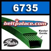 Gates 6735 PoweRated V-Belt (3L350K)
