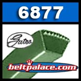 Gates 6877 PoweRated V-Belt. Kevlar.