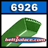 "Gates 6926 Belt (5L260K). 26"" Length, 21/32"" (17mm) Wide. Gates� Green belts."