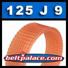 125J9 Poly-V Belt, Metric 9-PJ317 Motor Belt.