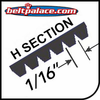 "H, PH Section Belts - 1/16"" Rib Width. Industrial Poly V."